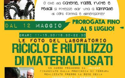 Riciclo e riutilizzo di materali usati: le foto del laboratorio