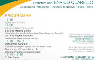 Un evento formativo promosso dal Germoglio e da ASP Ferrara