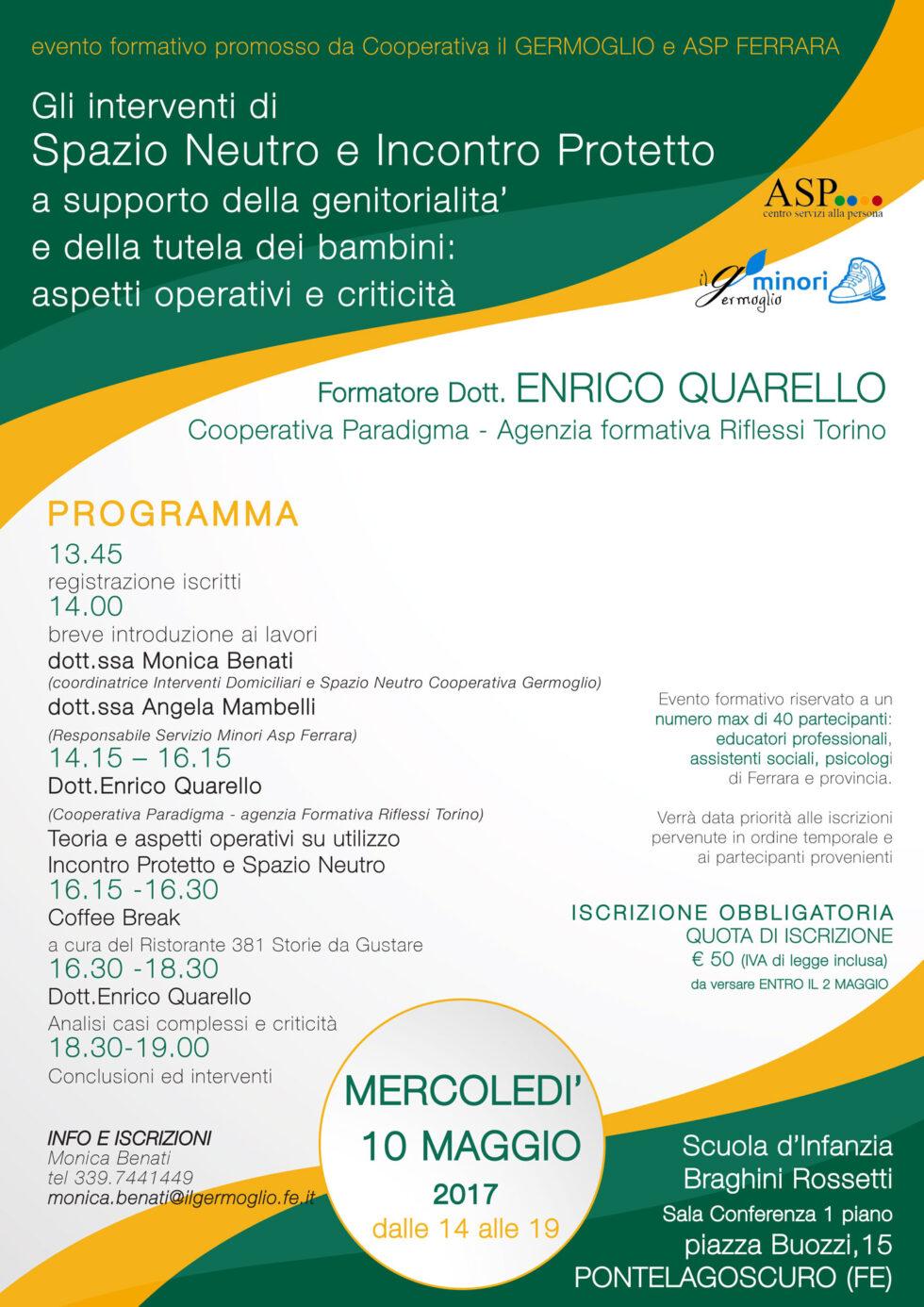 Un evento formativo promosso dal Germoglio e da ASP ...
