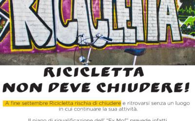 Ricicletta non deve chiudere!