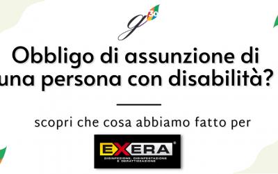 Assunzione di persona con disabilità oltre i 15 dipendenti: la case history di Exera
